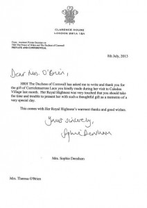 Letter from Duchess