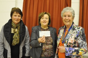 President Sylvia Newell, WI Member Adele Kearney and Sheila Carragher - Newry and Mourne MS Therapy Centre