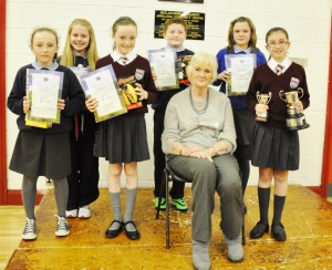 Competition Winners with judge Aileen Midley
