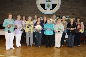 Delighted prize winners form the Inver area with their trophies.