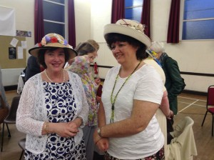 Jill Nash of Dundonald and Rosemary Beers of St Elizabeth's MU in their winning hats