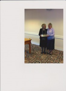 Lila Swaile presenting Annie with the Espey Trophy