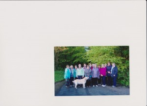 Pomeroy members plus Scamp the lovely dog
