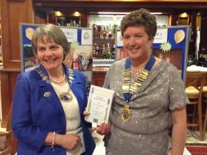Federation Chairman Elizabeth Warden with President Annabelle Clelland