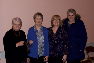 Area Chairman, Joan Shanks , Freda Wallace Spa, Ex. Member. Edwina Marr , Downpatrick , Margaret Broome Seaforde W.I.