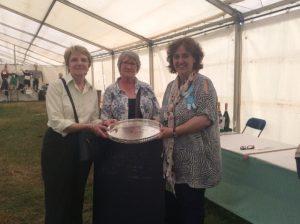 Nan & Helen receiving The Eileen Drayne Perpetual Trophy