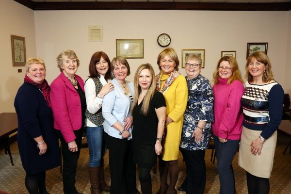The six semi-finalists pictured with Federation Chairman Elizabeth Warden and judges Jenny Bristow and Michelle Greeves.