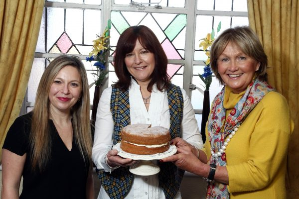 Bake Off semi-finalist Mandy Neill (representing Moyallen Area) with judges Michelle Greeves and Jenny Bristow.