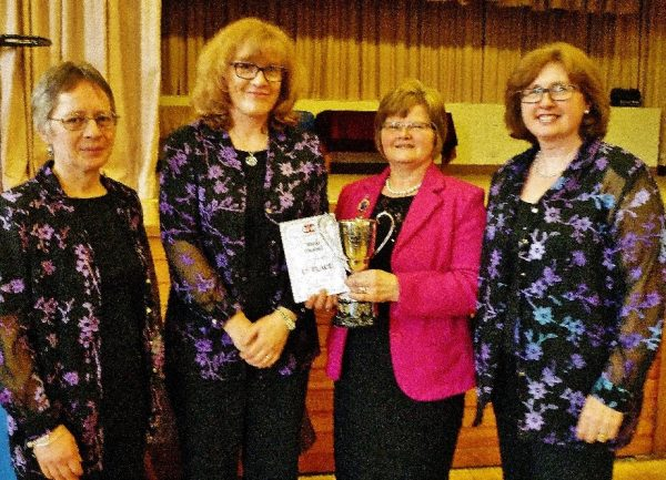 2q Members of Ballyblack WI Choir, the overall winners of the event, pictured with Federation Vice-Chairman Beth Irwin